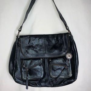 Black Leather Hobo purse by The Sak